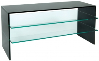 Greenapple Pure Glass Plasma TV Stand - Black 59225ZW