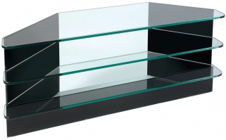 Greenapple Pure Glass Plasma TV Stand - Black 59291HZW