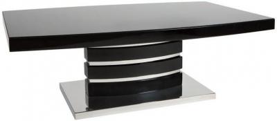 Greenapple Rimini Coffee Table - Glass and Black High Gloss