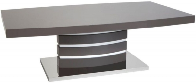 Greenapple Rimini Coffee Table - Glass and Grey High Gloss