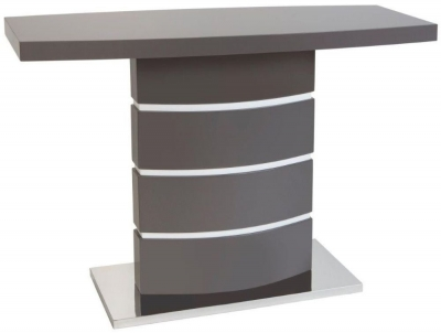 Greenapple Rimini Console Table - Glass and Grey High Gloss