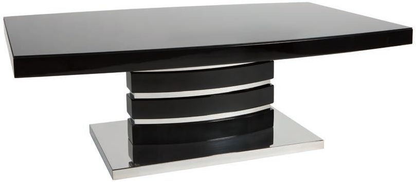 Greenapple Rimini Coffee Table - Glass and Black High Gloss