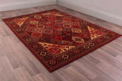 Keshan Heritage Baktiari Red Worsted Wool Rug