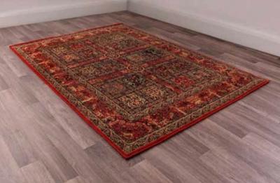 Keshan Heritage Persian Garden Red Worsted Wool Rug