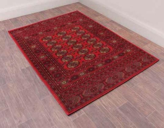 Keshan Heritage Bochara Red Worsted Wool Rug