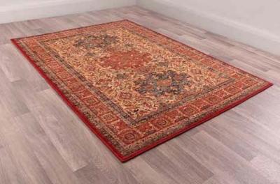 Keshan Supreme Kazak Red Worsted Wool Rug