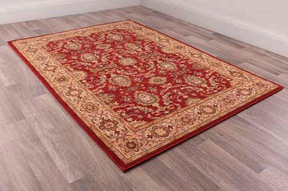 Keshan Supreme Herati Red Worsted Wool Rug
