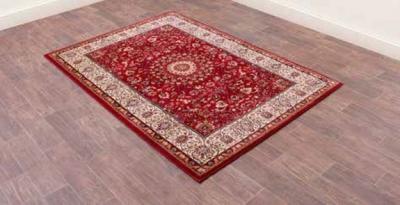 Madras 0772 Red Heatset Polypropylene Rug
