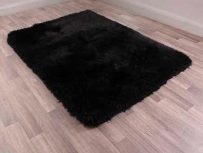 Mayfair Black Plain Shaggy Rug