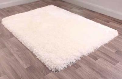 Mayfair White Plain Shaggy Rug