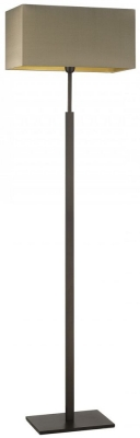 Heathfield Dakota Dark Bronze Floor Lamp with Herb Silk Shade