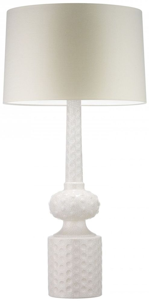 Heathfield Babylon Ivory Crackle Table Lamp with Oyster Glaze Shade