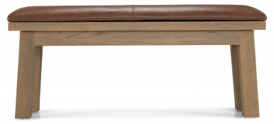 Alicia Oak Upholstered Dining Bench