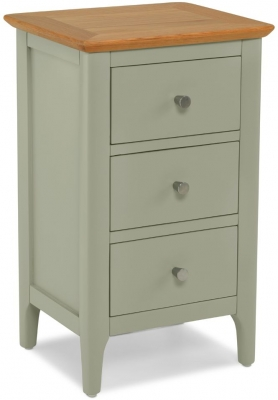 Ancona Sage Green Painted Bedside Cabinet
