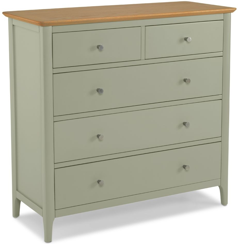 Ancona Sage Green Painted 2+3 Drawer Chest
