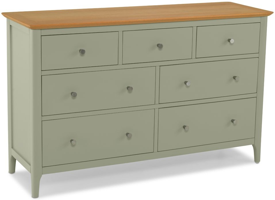 Ancona Sage Green Painted 7 Drawer Chest