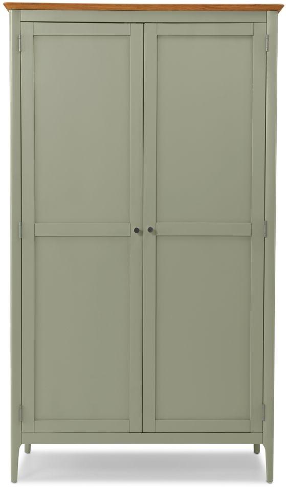 Ancona Sage Green Painted 2 Door Wardrobe