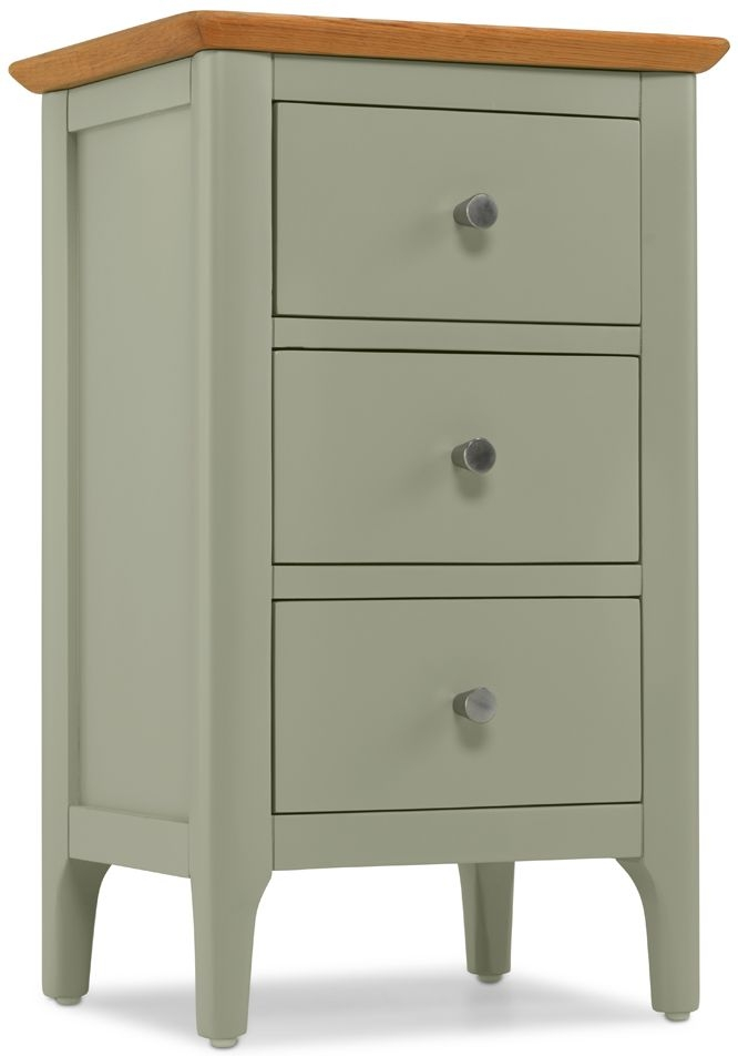Ancona Painted 3 Drawer Bedside Cabinet