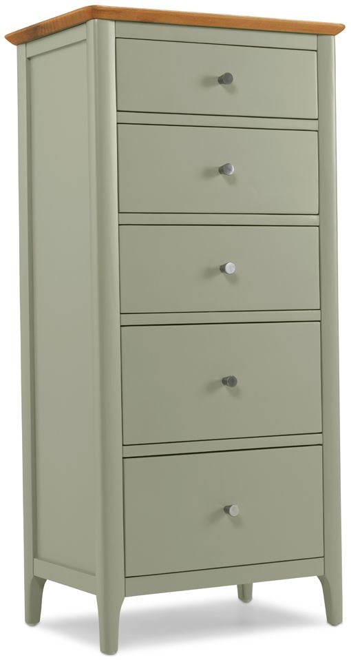 Ancona Painted Tall 5 Chest of Drawer