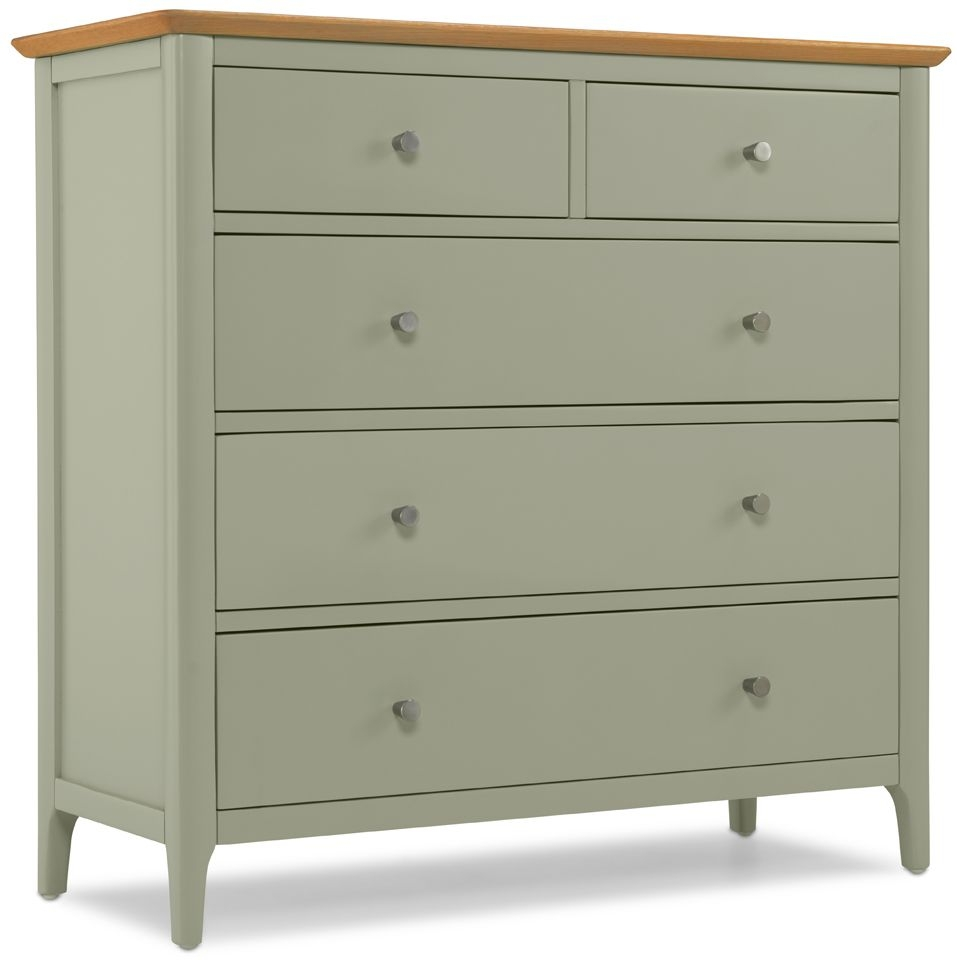Ancona Painted Wide 5 Chest of Drawer