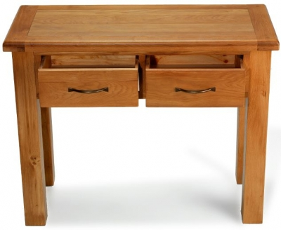 Arles Oak 2 Drawer Console Table