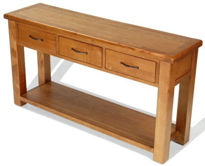 Arles Solid Oak Console Table - Large