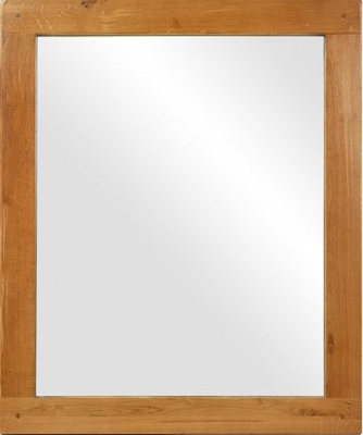 Arles Oak Rectangular Wall Mirror - 120cm x 100cm