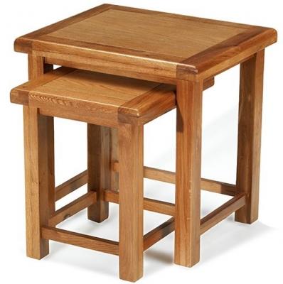 Arles Oak Nest of 2 Table
