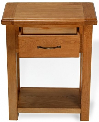 Arles Oak 1 Drawer Console Table
