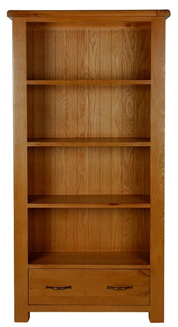 Arles Oak Large Bookcase with Drawer