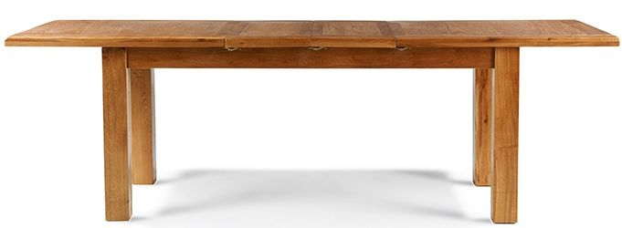 Arles Solid Oak Rectangular Extending Large Dining Table - 180cm-250cm