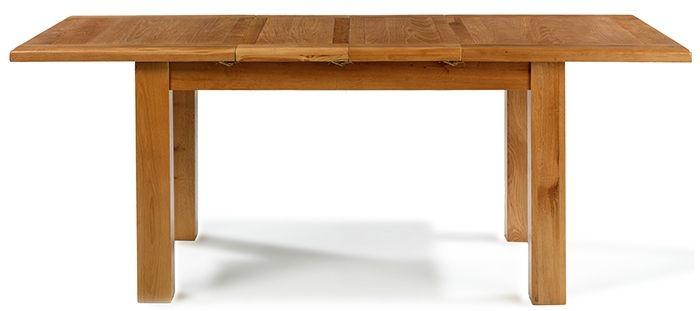 Arles Solid Oak Rectangular Extending Medium Dining Table - 132cm-198cm