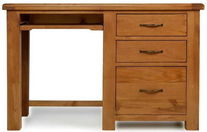 Arles Solid Oak 3 Drawer Desk with Filing Cabinet