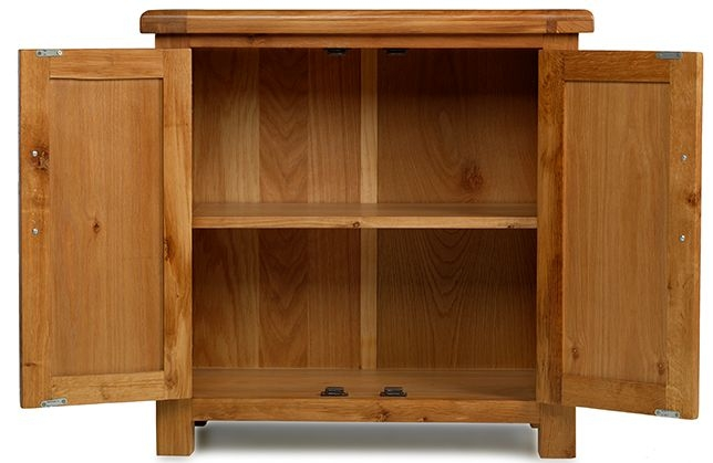 Arles Solid Oak 2 Door Small Petite Cupboard