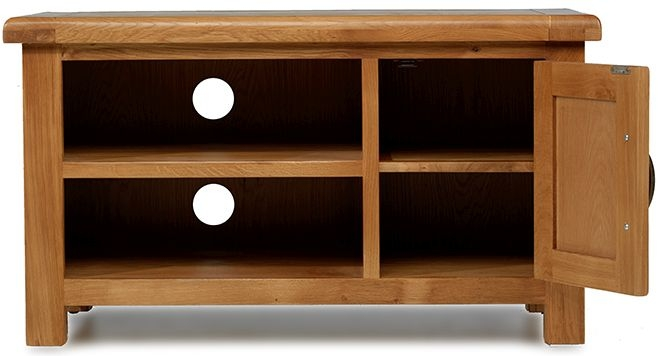 Arles Solid Oak 1 Door TV Cabinet