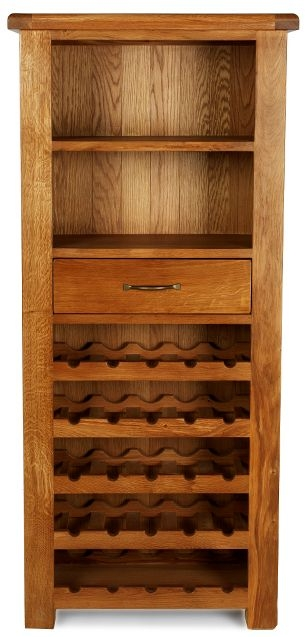 Arles Oak Tall Wine Cabinet