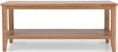 Asby Oak Coffee Table with Shelf