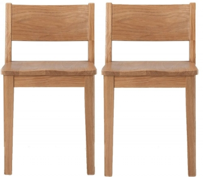 Asby Oak Dining Chair (Pair)