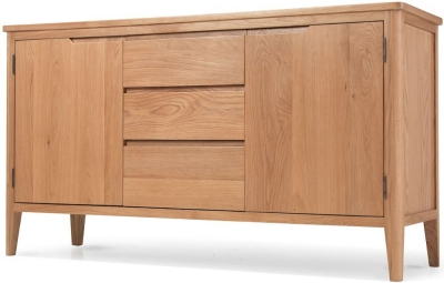 Asby Oak Large 2 Door 3 Drawer Sideboard