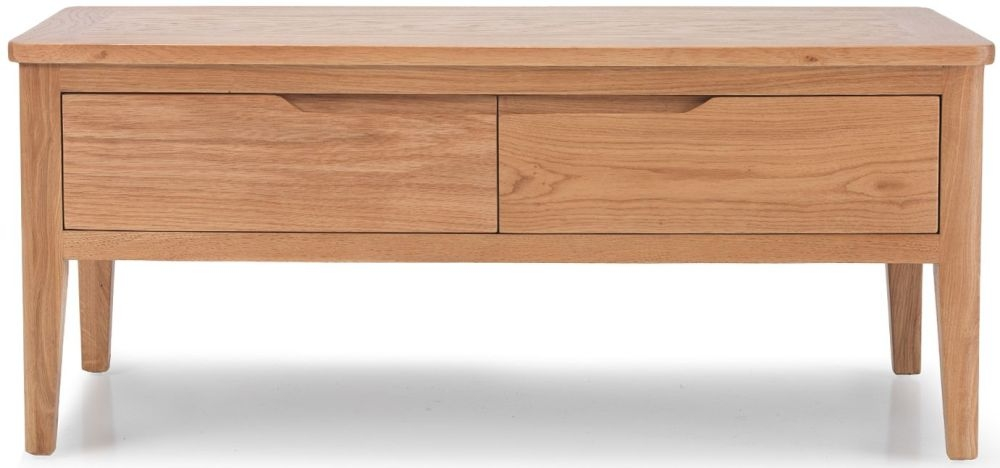 Asby Oak 4 Drawer Storage Coffee Table