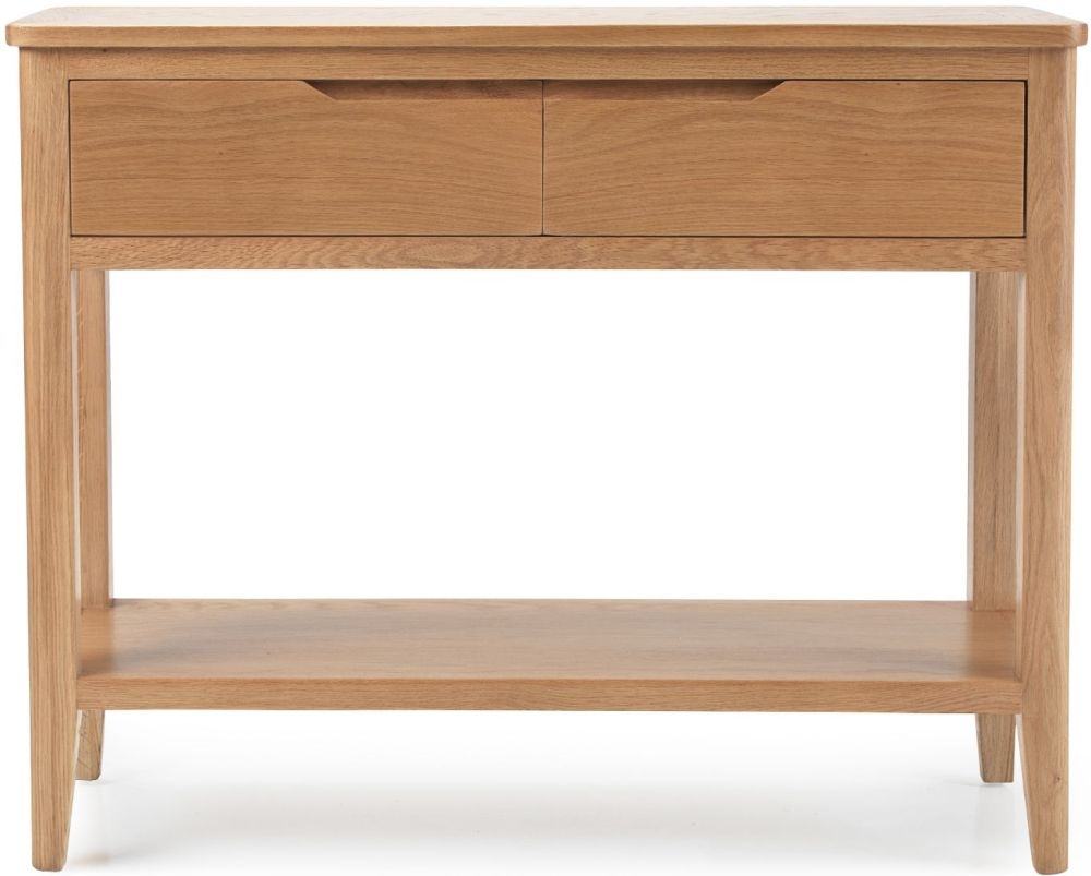 Asby Oak Console Table