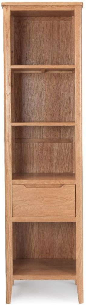 Asby Oak 1 Drawer Slim Bookcase