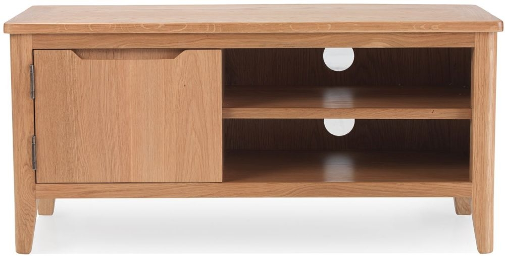 Asby Oak 1 Drawer Small TV Unit