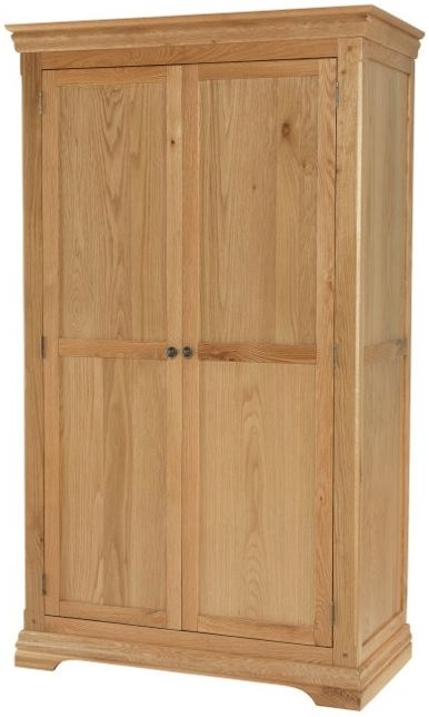 Bayford Solid Oak 2 Door Double Wardrobe