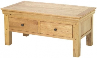 Bayford Oak Coffee Table with 4 Drawer