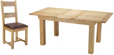 Bayford Oak Medium Extending Dining Set with 6 Chairs
