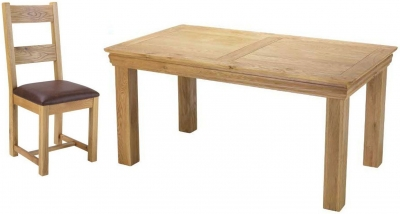 Bayford Oak Medium Fixed Top Dining Set with 6 Chairs