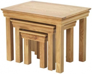 Bayford Oak Nest of 3 Tables