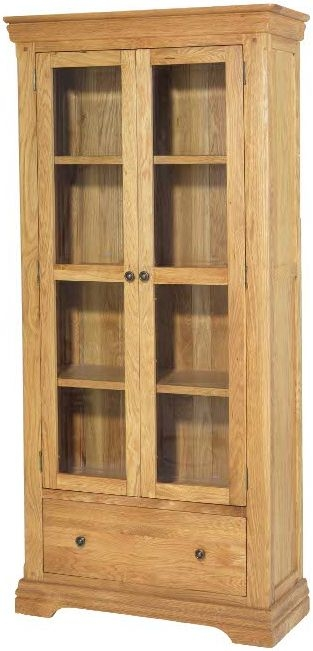 Bayford Solid Oak 2 Door Display Cabinet