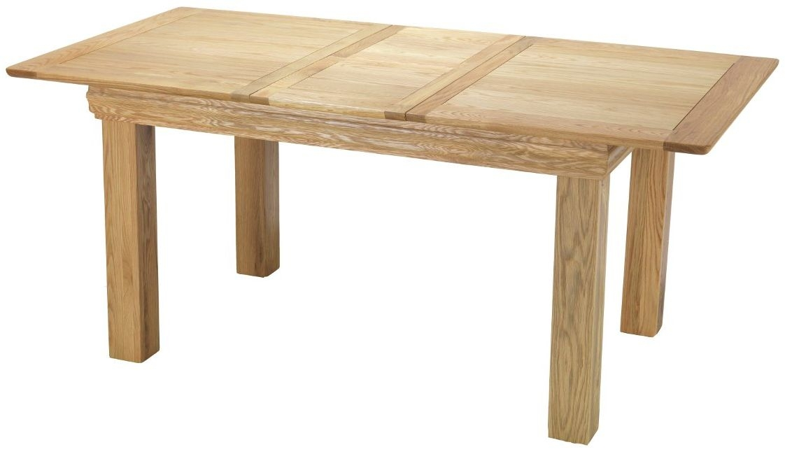 Bayford Solid Oak Rectangular Extending Medium Dining Table - 140cm-180cm